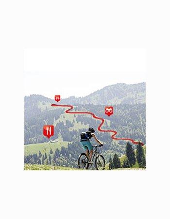 Fahrrad und Wandern