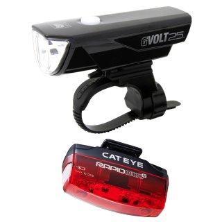 Cateye Beleuchtungskit GVolt 25 RC + Rapid micro G