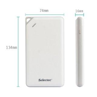 Selectec Mobile Powerbank 8600mA weiss