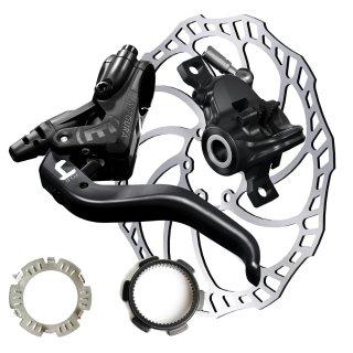 Magura Hydraulische Scheibenbremse MT4 Set + SL160 mm+Centerlock-Adapter