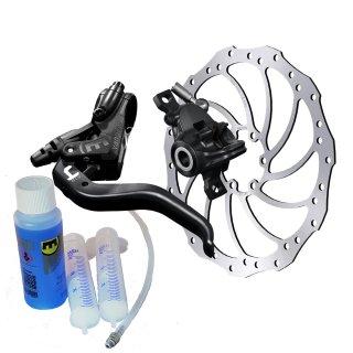 Magura Hydraulische Scheibenbremse MT4 Set + HC160 mm+Entlüftungs-Kit