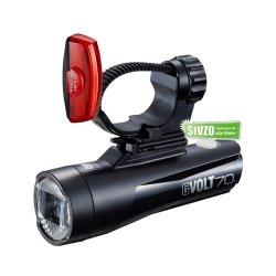 Cateye Beleuchtungskit  GVolt 70.1 + Bremslicht Rapid X2G...