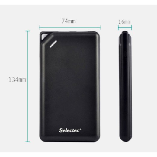 Selectec Mobile Powerbank 8600mA schwarz