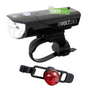 Cateye Beleuchtungsset  GVolt 20 RC GVOLT 20 RC Loop 2G