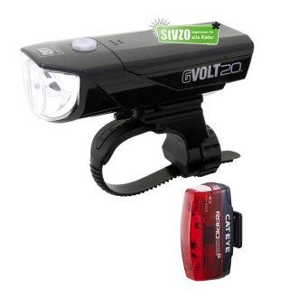 Cateye Beleuchtungsset  GVolt 20 RC GVOLT 20 RC Micro G