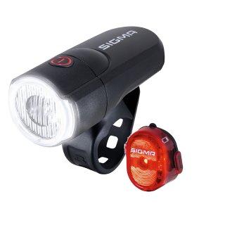 SIGMA LED-Aura 30 Beleuchtungs Set inkl. Rücklicht Nugget II