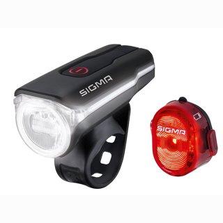 SIGMA LED-Akku-Beleuchtungs-Set Aura 60 Rückleuchte Nugget II