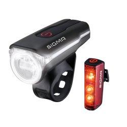 SIGMA LED-Akku-Beleuchtungs-Set Aura 60 Rückleuchte...