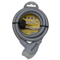 Kabelschloss 12x1200mm mit 2 Schlüssel grau